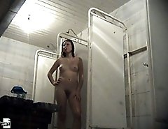 Chick gets filmed showering herself after swimming