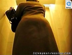 What can be more thrilling than spying on a babe in a WC while she takes a pee?