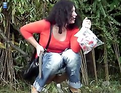 Outdoor pissing camera clips of unaware pretty chicks